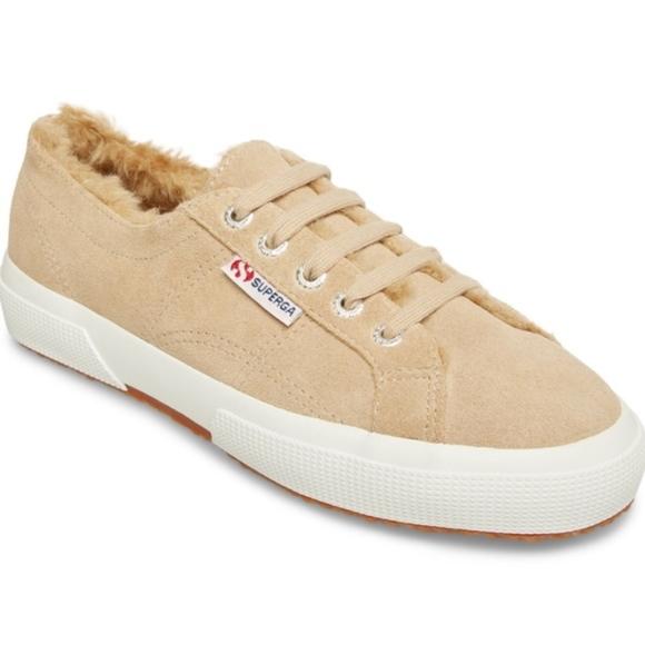 Superga Fur Lined Suede Sneaker   Poshmark